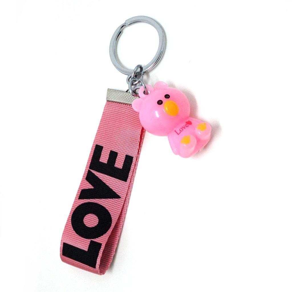 พวงกุญแจห้อยกระเป๋า สายสีชมพู 12อัน