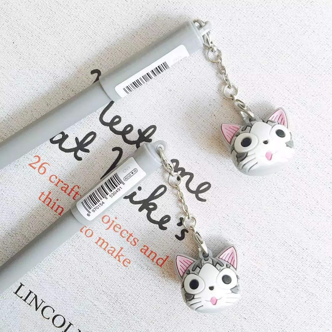 ปากกาแมวจี้ แบบมีหัวจี้ห้อย