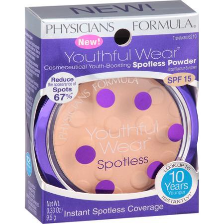 Physicians Formula Youthful Wear Cosmeceutical Youth-Boosting Spotless Powder # Translucent สีโปร่งแสง ให้การปกปิดจุดด่างดำได้ในทันที พร้อมลดการเกิดจุดด่างดำได้ถึง 67 % ใช้ได้ทุกสีผิว