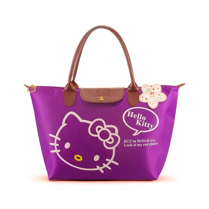 [Preorder] กระเป๋าถือแฟชั่น Hello Kitty สีม่วง Zhendian treasure waterproof bag swimming bag Hello Kitty cartoon fashion handbags shoulder bag shopping bag