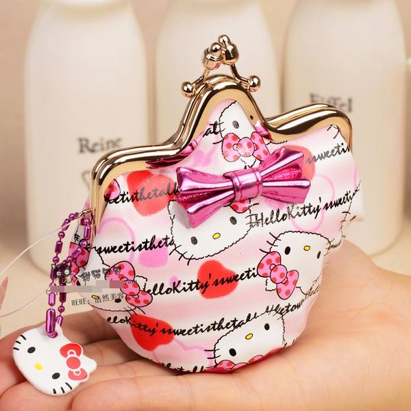 [Preorder] กระเป๋าใส่เหรียญ Hello Kitty แบบที่ 9 (2 ใบ/แพ็ค คละแบบได้) Korean Japanese hello kitty purse Korean cute cartoon fashion ladies bag change clip coins