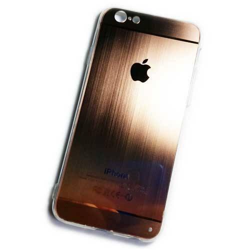 เคสไอโฟน 5/5S ขอบยาง หลัง Apple (สีพิ้งโกล)