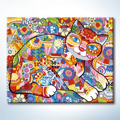 """TG384 ภาพระบายสีตามตัวเลข """"แมวน้อยหลากสีสัน"""""""