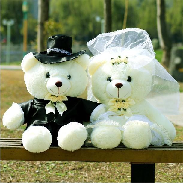 [Preorder] ตุ๊กตาหมีคู่แต่งงาน ขนาด 70 ซม. (1 คู่ชายหญิง) Teddy Bear plush toy birthday gift wedding couple bear doll pressure