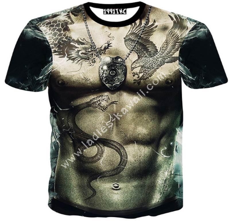 เสื้อสกรีน 3D T-Shirt ยากูซ่า Yakuza
