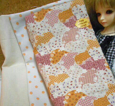 May59.Pack4 :ผ้าจัดเซตผ้าลินินผสมคอตตอน+คอตตอนลายจุดซื้อในไทย (27x50 cm) รวมเป็น3 ชิ้น