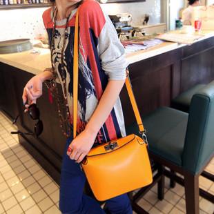 Maomaobag กระเป๋าสะพายแฟชั่นสีเหลือง ทรงเก๋ มินิไซส์
