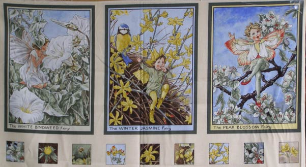 Michael Miller Flower Fairies Sunshine Panel Sunny