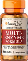 Puritan's Pride - Multi-enzyme Formula 60 Coated Caplets