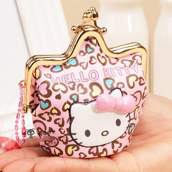 [Preorder] กระเป๋าใส่เหรียญ Hello Kitty แบบที่ 4 (2 ใบ/แพ็ค คละแบบได้) Korean Japanese hello kitty purse Korean cute cartoon fashion ladies bag change clip coins