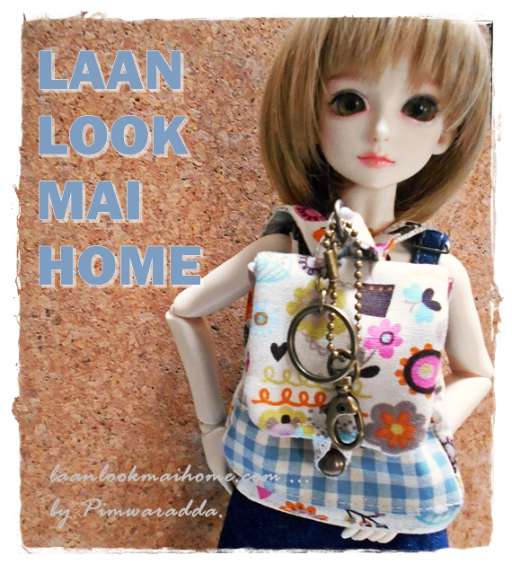 "HMLMshop112 : พวงกุญแจ "" Pimwaradda's Craft "" (ผ้าในไทย)"