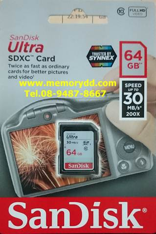 SD Sandisk Ultra 64GB 30MB/s (SIS/Synnex)