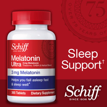 Schiff Nutrition - Melatonin Ultra 3 mg & More 365 Tablets