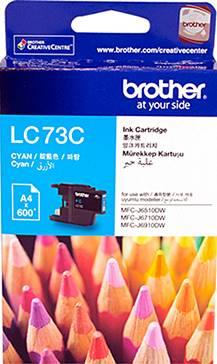 BROTHER INK CARTRIDGE LC-73C สีฟ้า