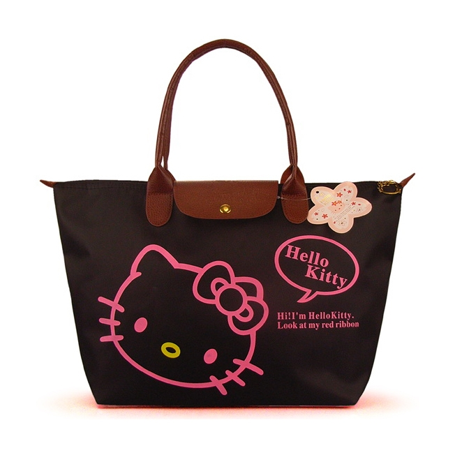 [Preorder] กระเป๋าถือแฟชั่น Hello Kitty สีดำ Zhendian treasure waterproof bag swimming bag Hello Kitty cartoon fashion handbags shoulder bag shopping bag