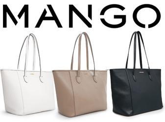 พร้อมส่งสีดำค่ะ MNG touch saffiano effect shopper bag