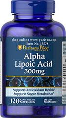 Puritan's Pride - Alpha Lipoic Acid 300 mg 120 Softgels