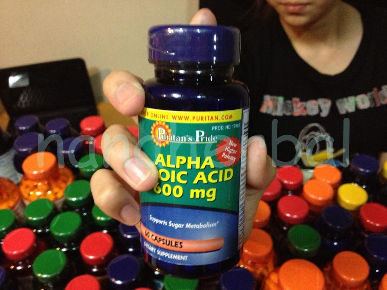 Puritan's Pride Alpha Lipoic Acid 600 mg. 60 Capsules