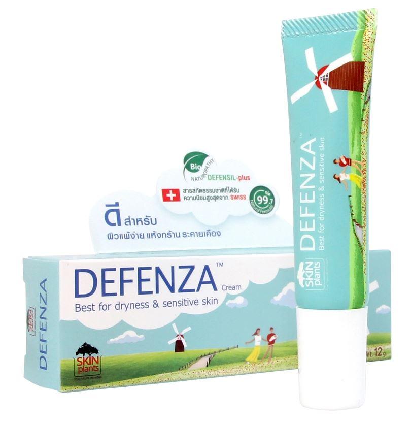 Skinplants DEFENZA Cream 12g (99.7% Natural) Defenza cream ครีมสำหรับผิวแพ้ง่าย แสบ คัน ติดสเตียรอยด์