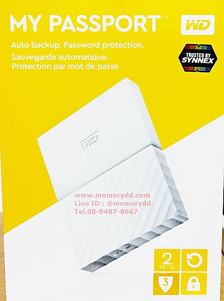 """WD New Passport Ultra 2017 2TB 2.5"""" (White) USB3.0 (WDBYFT0020BWT-WESN)"""