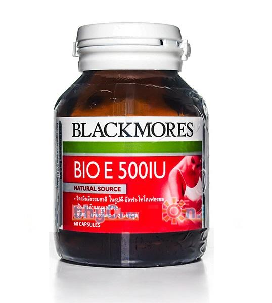 Blackmores BIO E 500 mg. แบลคมอร์ส ไบโอ อี 500 มก. บรรจุ 60 แคปซูล Blackmores Bio E 500 mg. แบลคมอร์ส ไบโอ อี บรรจุ 60 แคปซูล ต้านสารอนุมูลอิสระที่มีประสิทธิภาพสูง (Powerful Antioxidant) Blackmores Bio E 500 mg. แบลคมอร์ส ไบโอ อี บรรจุ 60 แคปซูล ต้านสารอน