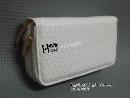 กระเป๋า w008 ลายสาน 2 ซิป ขนาด 9x16 cm ไซส์ M