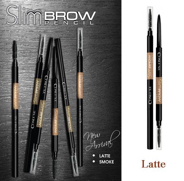 Cosluxe SlimBrow Pencil # สี Latte สีน้ำตาลนม ดินสอเขียนคิ้ว SlimBrow Pencil แบบ Auto ไม่ต้องเหลาและ นวัตกรรมหัวเรียวเล็กเพียง 1 MM.