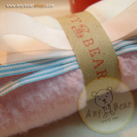 เซตผ้าขนนิ่มสำหรับเย็บตุ๊กตาหมี - โทนสีชมพู