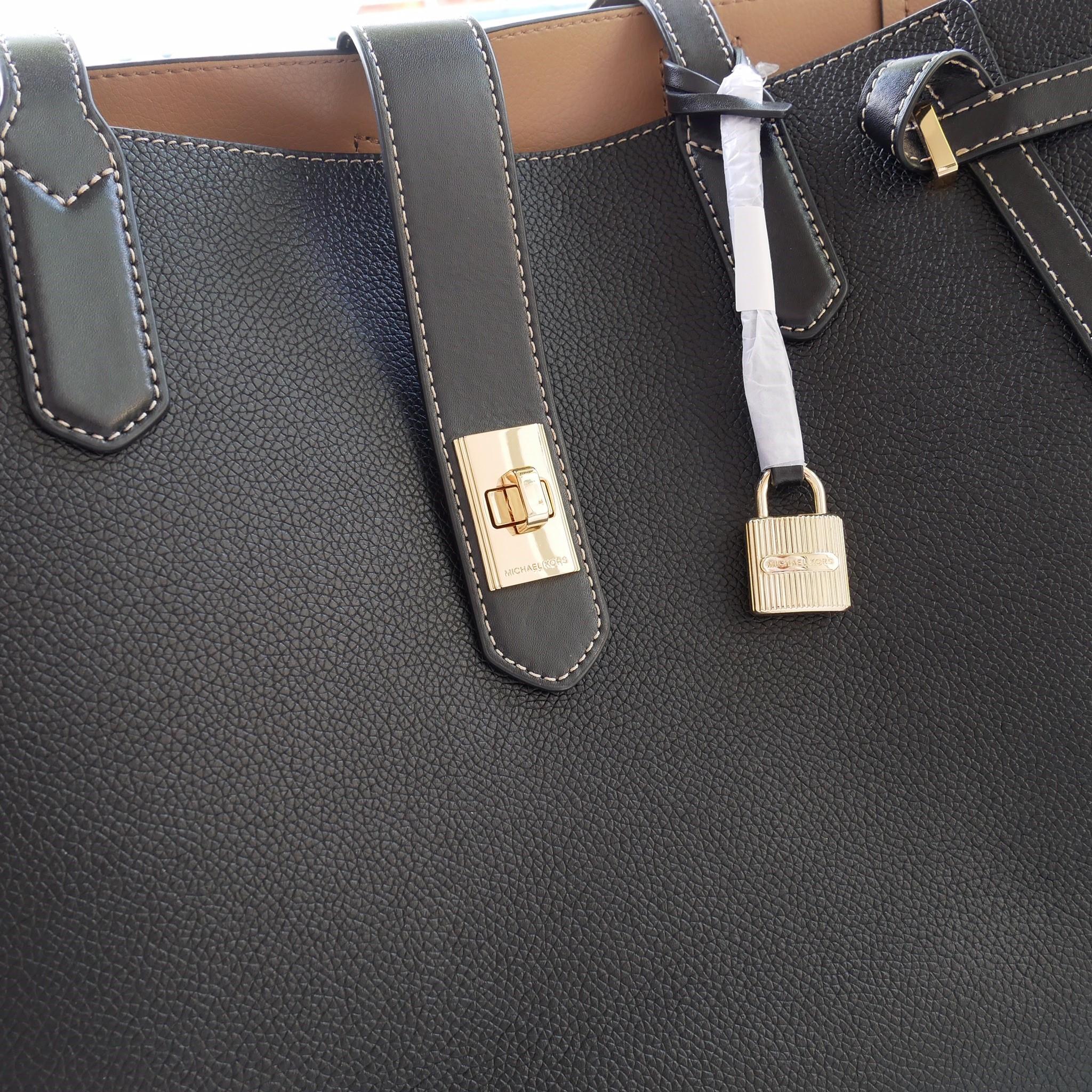827fd4cec6d9 NWT Michael Kors Cassie Large Leather Tote Black - Little costume ...