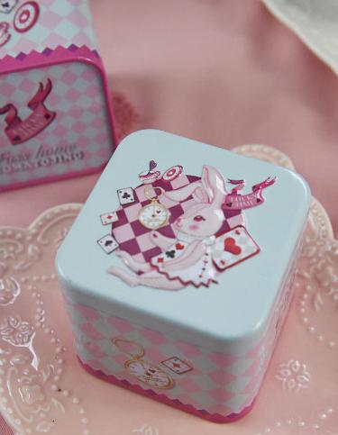 กล่องของขวัญน่ารัก พาสเทล ลายกระต่าย