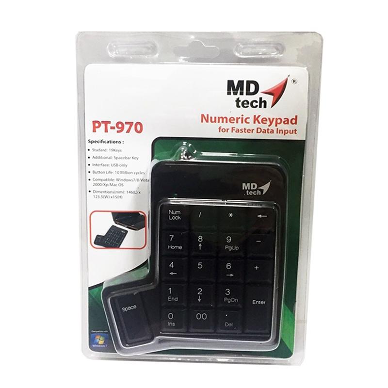 คีย์บอร์ดตัวเลข MD-TECH รุ่น PT-970