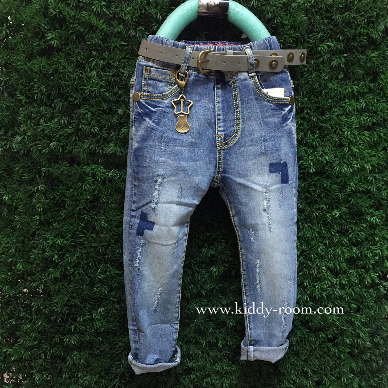(เล็ก-โต) กางเกงยีนส์ฟอก ผ้าเกาหลี เนื้อนิ่ม ผ้าดีม๊ากขอบอก ทรงสวย แต่งแบบปะๆ ขาดๆ มาพร้อมเข็มขัดเท่ๆ ใส่ได้ทั้งหญิงและชายค่ะ