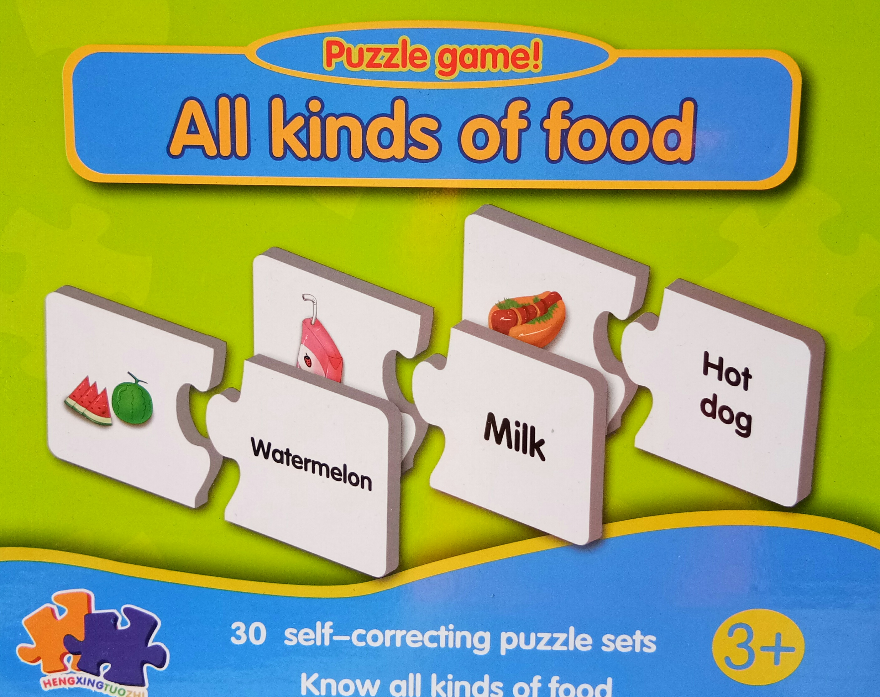 จิ๊กซอ จับภาพคำศัพท์อาหาร All kinds of food