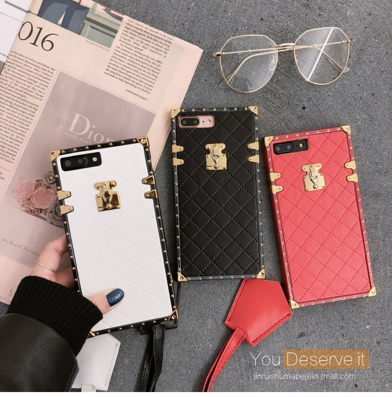 (682-009)เคสมือถือไอโฟน Case iPhone 7 Plus/8 Plus เคสลายหนังกระเป๋าหรู