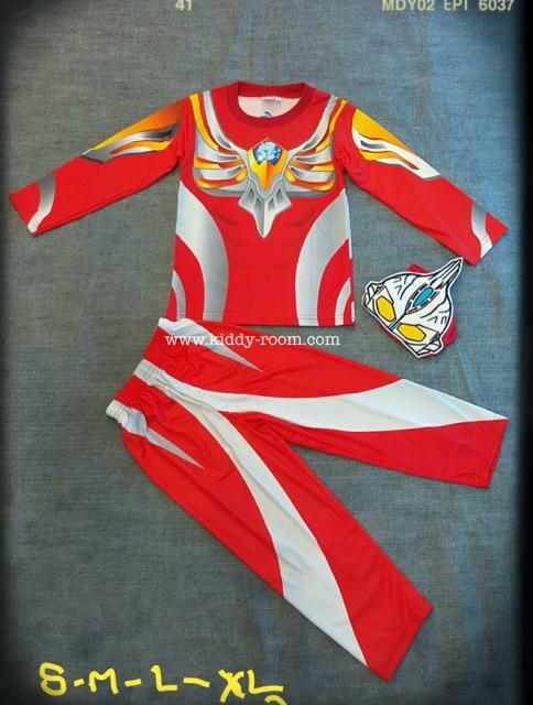Ultraman Max (งานลิขสิทธิ์) ชุดแฟนซีเด็กอุลตร้าแมน แม๊กซ์ ชุด 3 ชิ้น เสื้อ กางเกง และหน้ากาก ให้คุณหนูๆ ได้ใส่ตามจิตนาการ ผ้ามัน Polyester ใส่สบายค่ะ หรือจะใส่เป็นชุดนอนก็ได้ค่ะ size S, M, L, XL