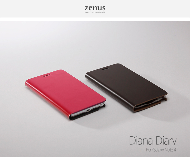 Zenus : Diana Diary Synthetic Leather Cover Case For Galaxy Note 4
