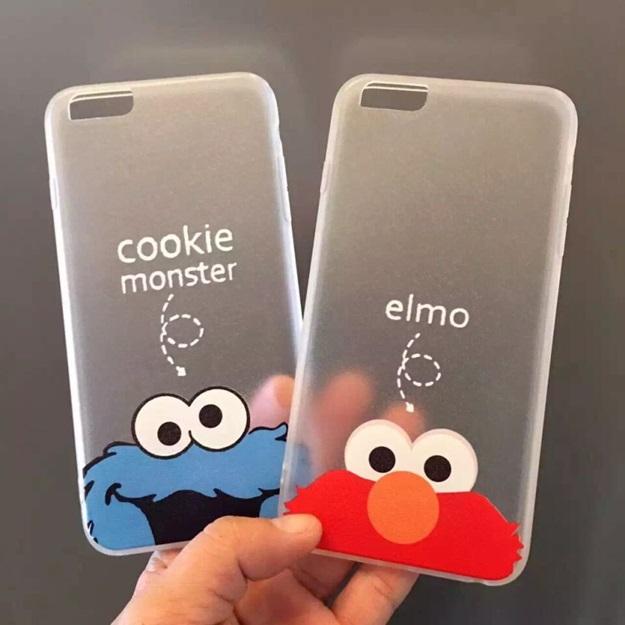 (151-170)เคสมือถือไอโฟน case iphone 5/5s Soft Case เทกเจอร์ผ้าไหม Cookie Monster