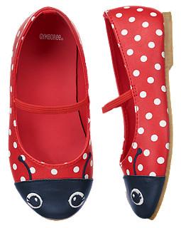 รองเท้า Gymboree (นำเ้ข้าแท้ USA) --- Ladybug Ballet Flats size 9, 10