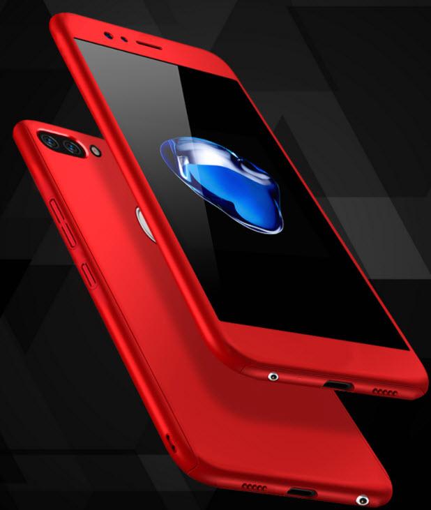 (491-031)เคสมือถือ Case Huawei Nova 2 Plus เคสพลาสติกสไตล์กันกระแทก 360 องศาพร้อมหน้าจอกระจกนิรภัย