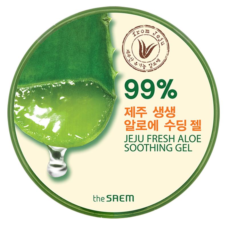 The Saem JEJU FRESH ALOE SOOTHING GEL 99% 300 ml เจลว่านหางจระเข้ บำรุงผิวหน้า และผิวกาย