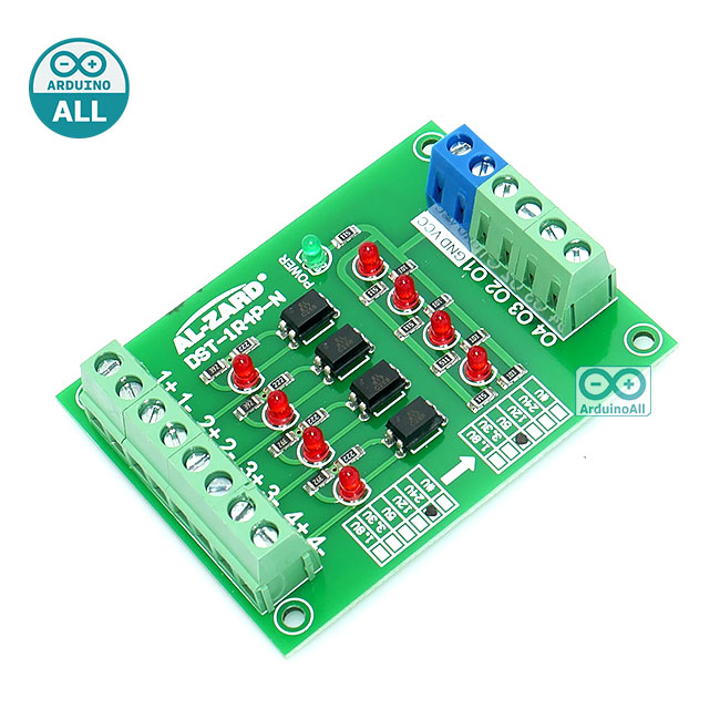 24V to 5V 4 Channel Optocoupler Module PLC Signal Level Voltage Converter Board 4Bit