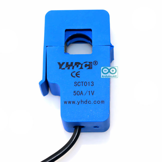 SCT-013-050 CT 0-50A to 0-1V Non-Invasive Current Sensor เซนเซอร์วัดกระแสไฟฟ้าแบบไร้สัมผัส 50A
