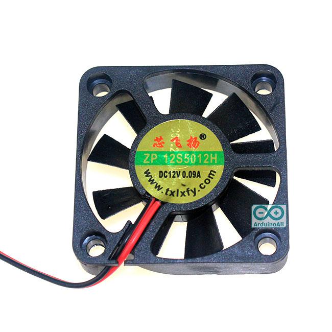 พัดลมระบายความร้อน 2สาย ขนาด 5x5cm 12V