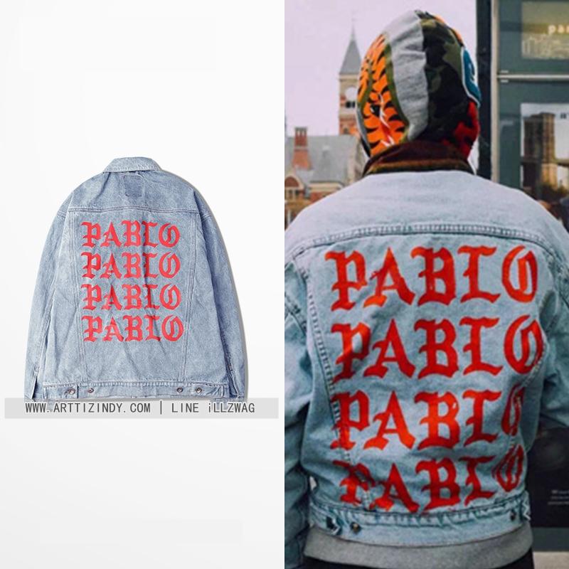 Jacket kanye west I feet Like Pablo Denim 16FW -ระบุไซต์/สี-