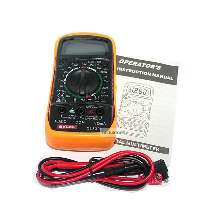 Excel XL830L Digital 3 1/2 LCD Voltmeter Ammeter Ohmmeter Multimeter