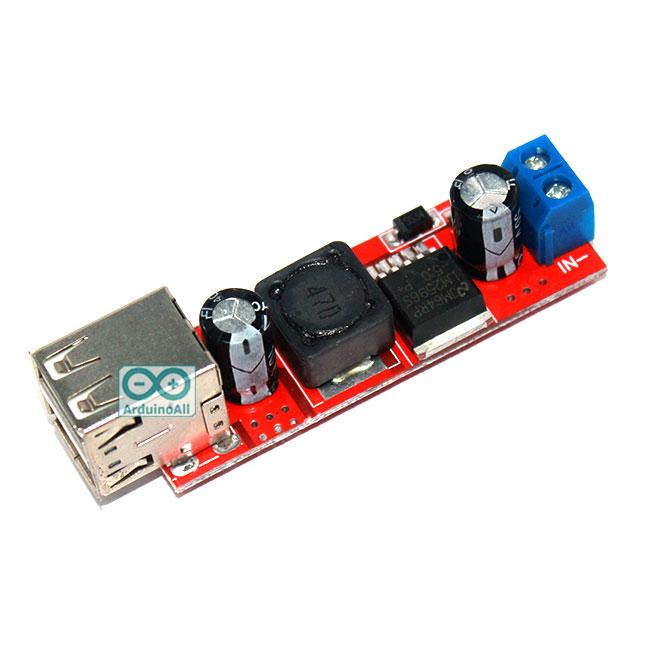 Dual USB Output 9V//12V//24V//36V to 5VDC-DC Car Charger 3A Step-down Module