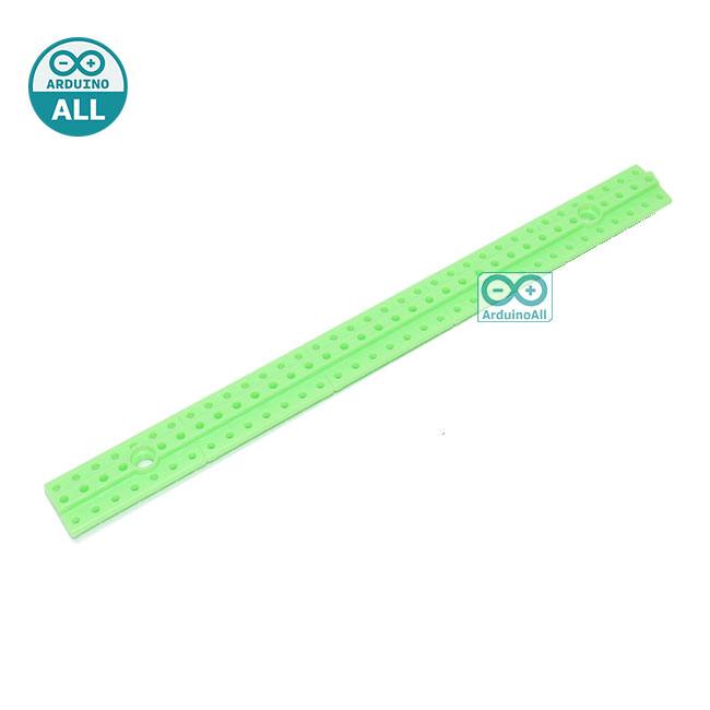 ABS plastic long bar blocks universal plate ขนาด 1.5x17.4cm สีเขียว