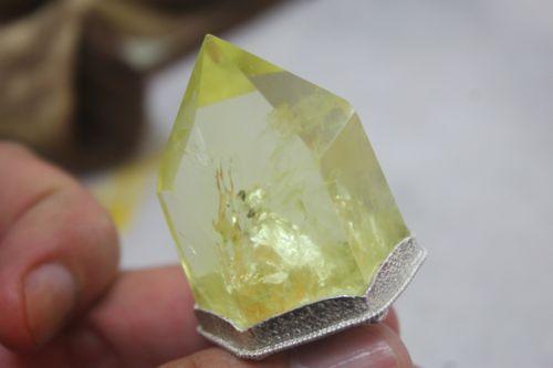 เพนดูลั่ม เยลโล่ควอตซ์ ( Lemon Yellow Quartz Pendulum )