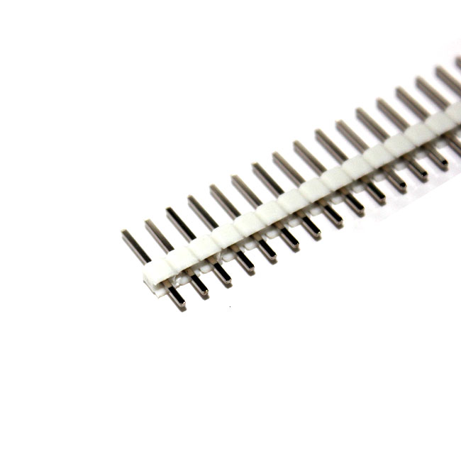 ก้างปลา 40 ขา สีขาว 2.54mm White Single Row Male 1X40 Copper Pin Header Strip