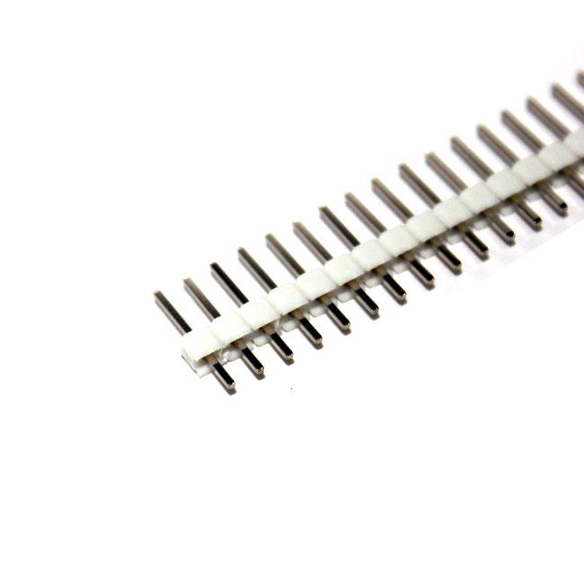 ก้างปลา 40 ขา สีขาว 2.54mm White Single Row Male 1X40 Copper Pin Header Strip